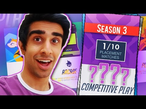 FIRST SEASON 3 PLACEMENT MATCHES! - OVERWATCH COMPETITIVE GAMEPLAY