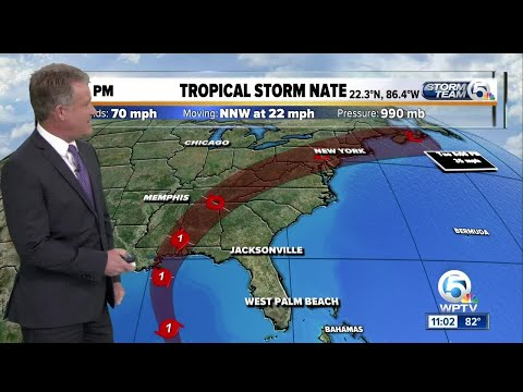 Tropical Storm Nate prompts hurricane warning for metropolitan New Orleans