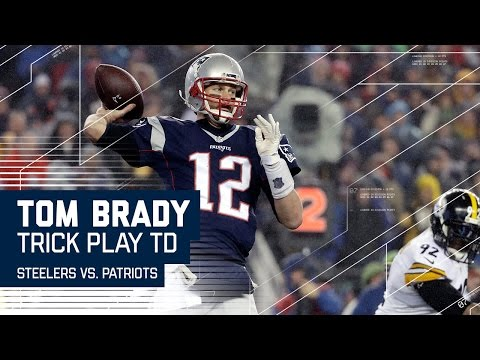 Tom Brady Hits Hogan for TD on Flea Flicker! | Steelers vs. Patriots | AFC Championship Highlights