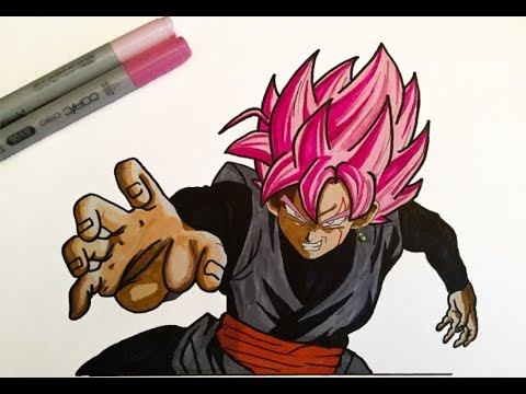 Comment Dessiner Black Goku Ssj Rose Partie 1 Youtube