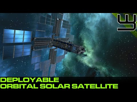 Space Engineers - Deployable Orbital Satellite, Solar Energy & Oxygen Farm