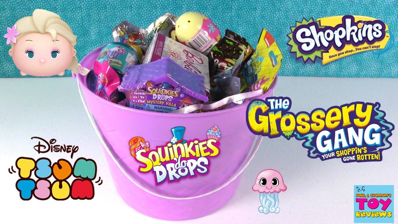 Download Blind Bag Bucket Barbie Disney Tsum Tsum Shopkins Squinkies Opening | PSToyReviews