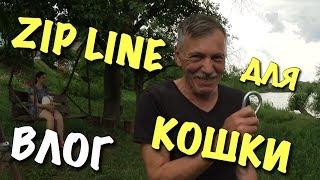 ВЛОГ: Zip Line для кошки - DIY