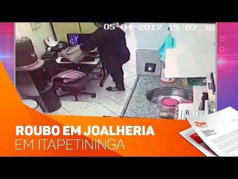 Roubo em joalheria em Itapetininga - TV SOROCABA/SBT