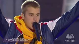 Justin Bieber Emotional Speech 'God Is In The Midst Of Darkness' One Love Manchester
