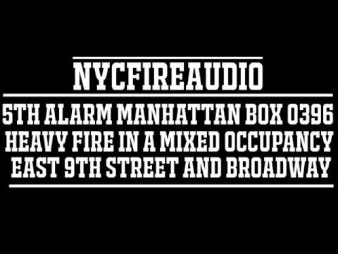 NYCFireAudio - Manhattan 5th Alarm Box 0396  - Heavy Fire In Mixed Occupancy Dwelling  - 6/29/17