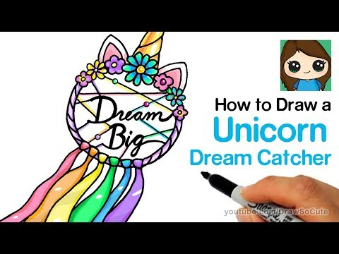 how-to-draw-a-unicorn-dream-catcher-easy