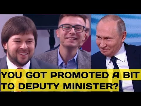 """Putin Jokes With an """"Ambitious"""" Deputy Minister Who He Personally Recomended For Promotion"""