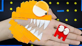 Lego Pac-Man vs Crazy Ghosts in The Lego Maze | Game Pac-Man Stop Motion