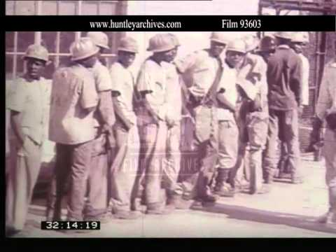 Apartheid in South Africa in 1970.  Archive film 93603