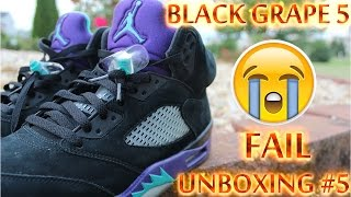 Rare Black Grape Air Jordan 5 Bad Unboxing #5 FAIL + Full Detailed Look