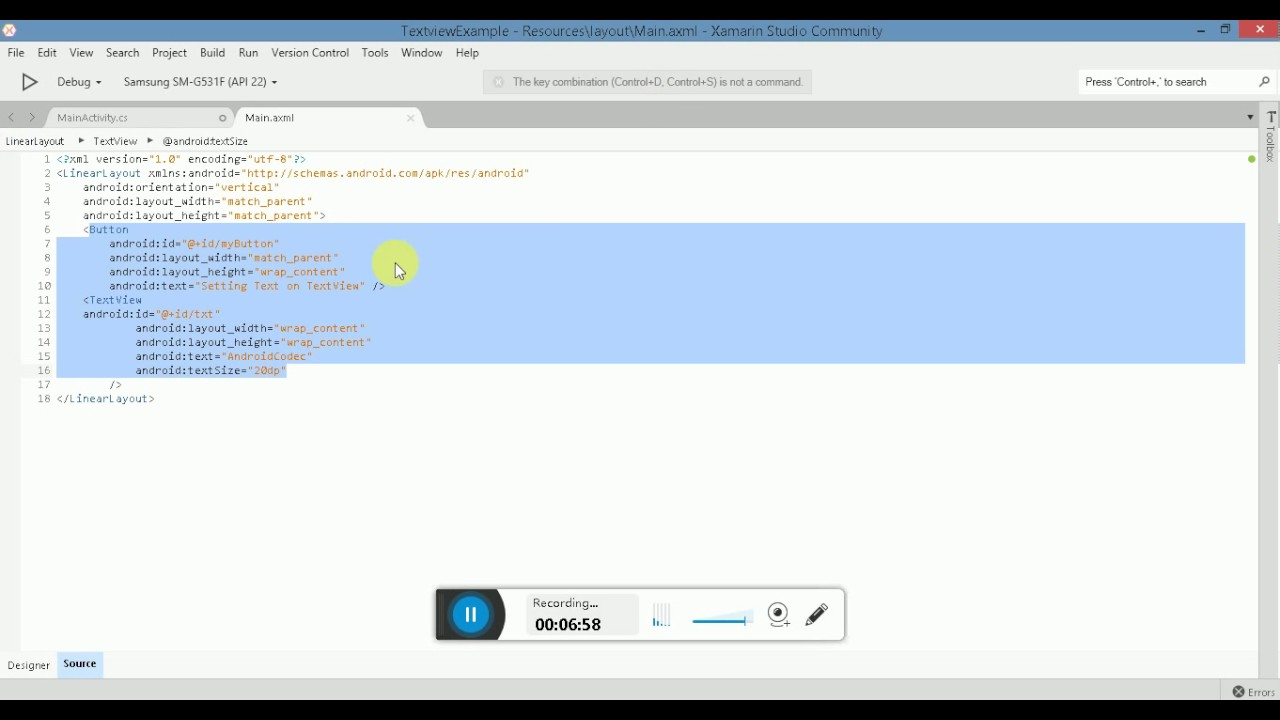 What is TextView,how to set/get text in/from textview in Android Xamarin  Studio(English Version)
