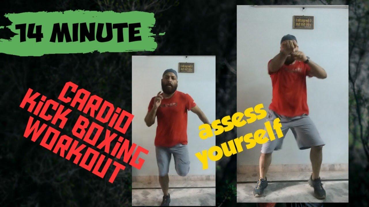14 minute fat burning🔥advance cardio kick boxing workout .