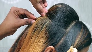 Beautiful Hairstyle for wedding/party/1 Minute Puff Hairstyles/Wedding Guest hairstyles
