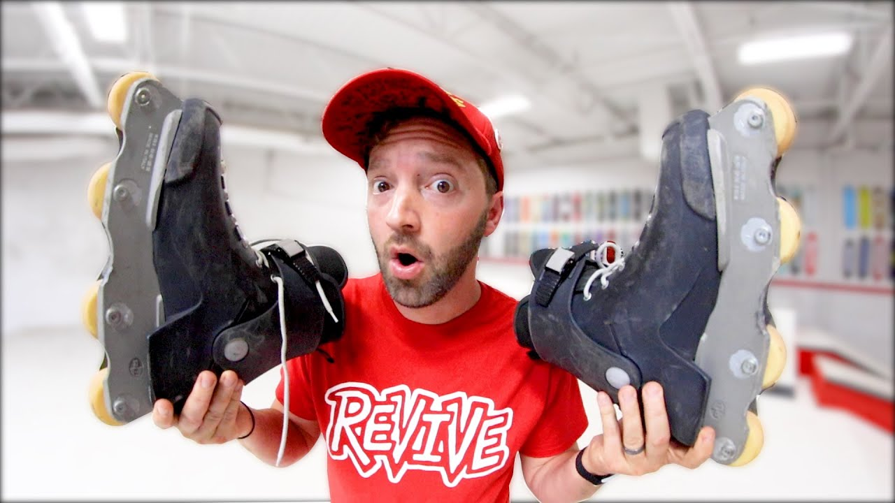 CAN A SKATEBOARDER  ROLLERBLADE? / Warehouse Wednesday