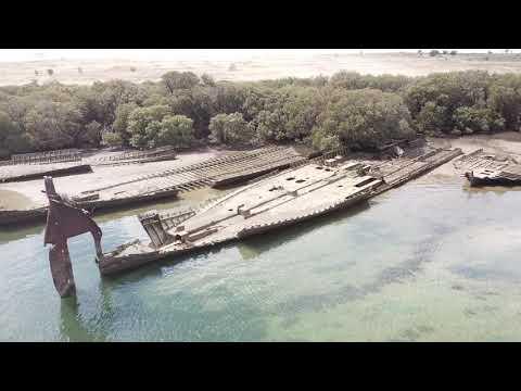 Ships Graveyard Garden Island, Port Adelaide, South Australia