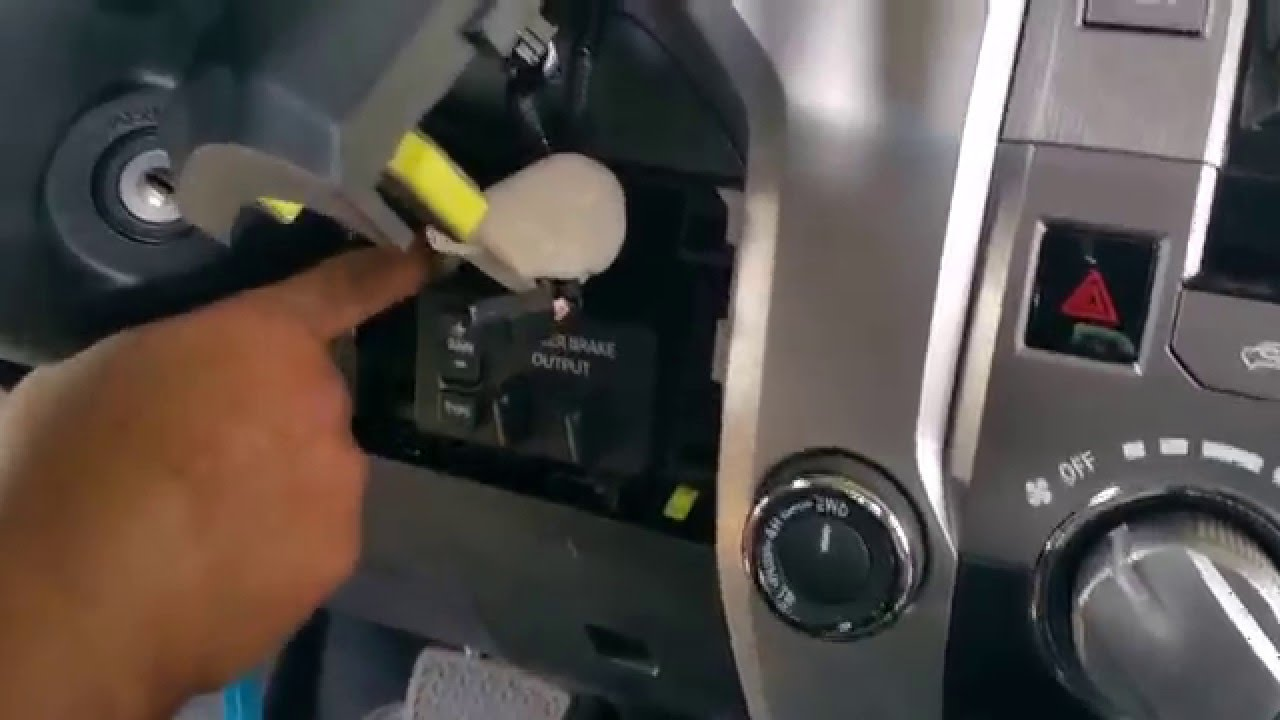 Trailer Brake Wire Diagram Air Conditioner Thermostat Wiring Toyota Tundra Controller - Youtube
