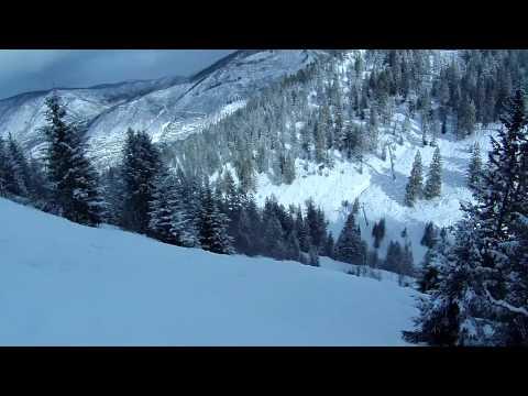 New Double Black on Aspen Mountain in HD Helmet Cam Feb 9 2012