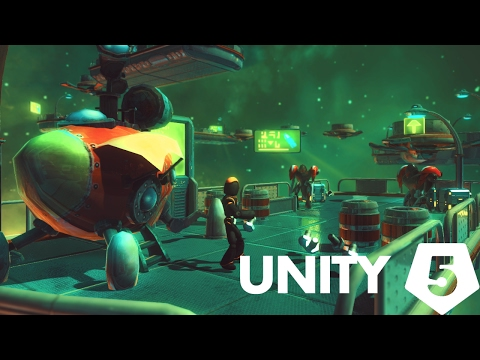 Unity 5 Speed level design - Ratchet and Clank inspired
