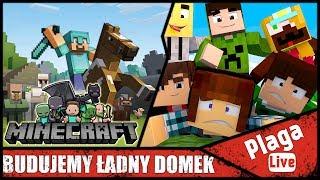BUDUJEMY ŁADNY DOMEK (Minecraft Sztynx #61) | PlagaLive