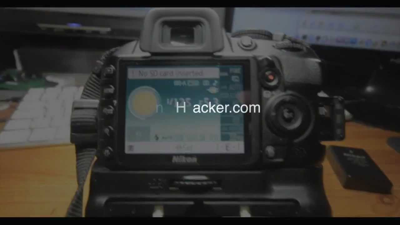 Nikon D3100 Hacked, Battery Authentication Removed