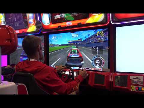 "Daytona Championship USA ""Definitive Version"" (Sega Amusements) - IAAPA 2017"