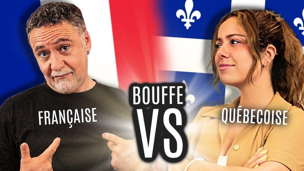 Bouffe FRANÇAISE VS bouffe QUÉBÉCOISE // Avec mon PÈRE