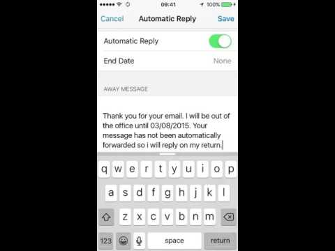 auto reply on iphone how to turn on automatic email replies out of office on 2628