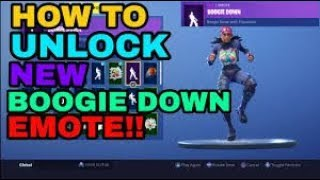 How to Unlock the NEW BOOGIE DOWN EMOTE | Fortnite Battle Royale