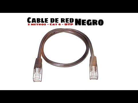 Video de Cable de red UTP CAT6 2 M Negro