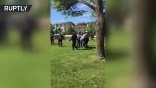 В Вашингтоне произошла драка с участием охраны Эрдогана, демонстрантов и полиции