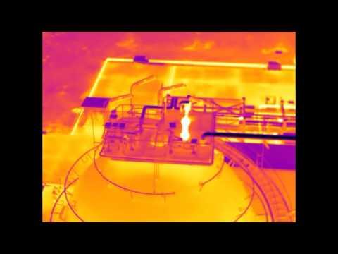 Thermal Imaging Video of Gas Tank