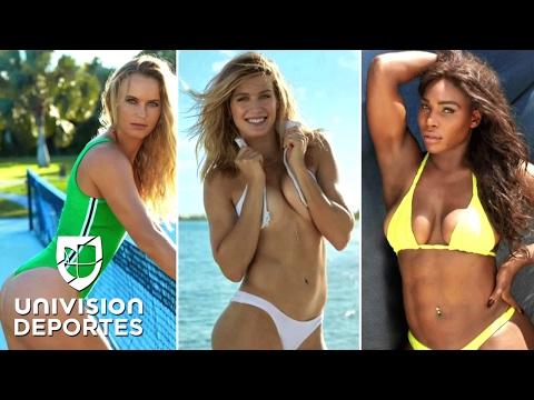 Serena Williams, Wozniacki y Bouchard posaron en trajes de baño: punto, juego y partido…