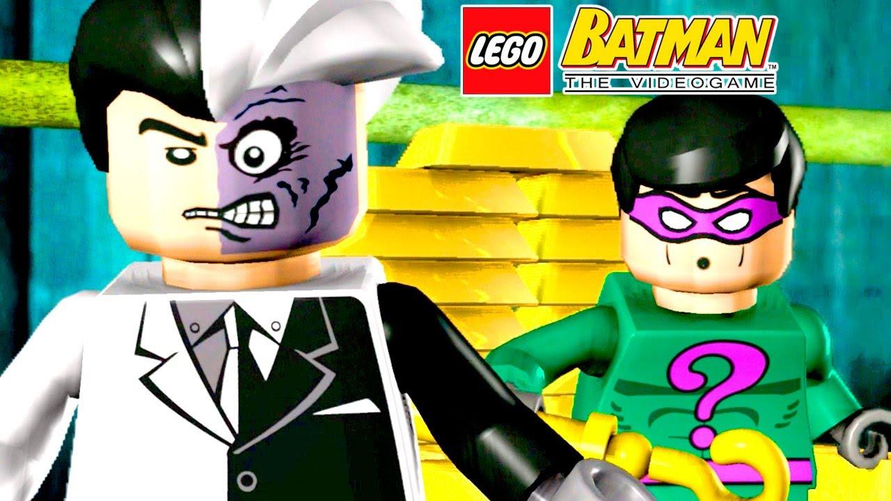 Batman E Robin Contra Duas Caras E Charada Lego Batman The