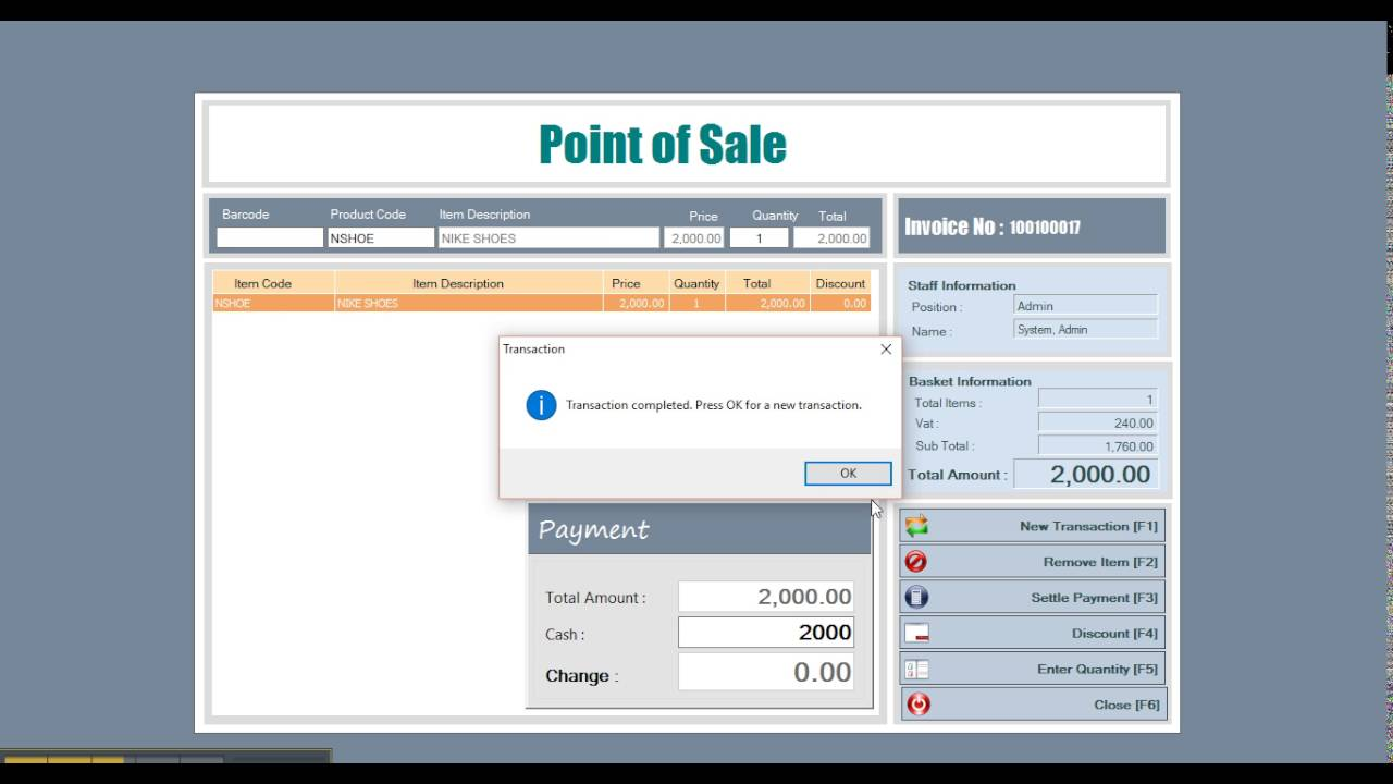 Point Of Sale And Inventory System Youtube