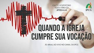 CULTO VESPERTINO - 28/02/2021