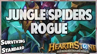 Jungle Spiders Rogue | Surviving Standard 75 | Hearthstone | Kobolds and Catacombs