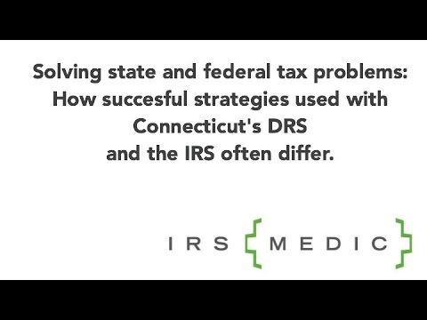 The difference between solving CT & Federal tax problems: An