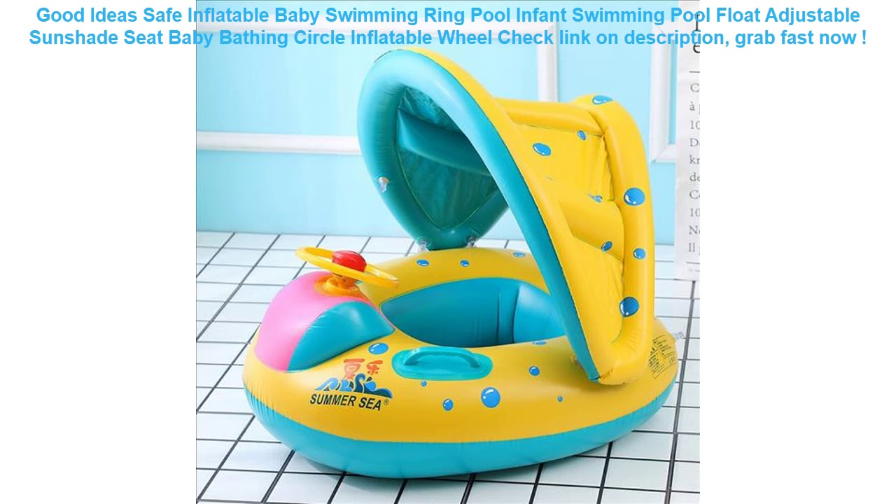 SAFE Baby Inflatable Ring Float Swimming Pool Wheel Kid With ...