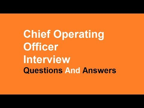 Chief Operating Officer Interview Questions And Answers