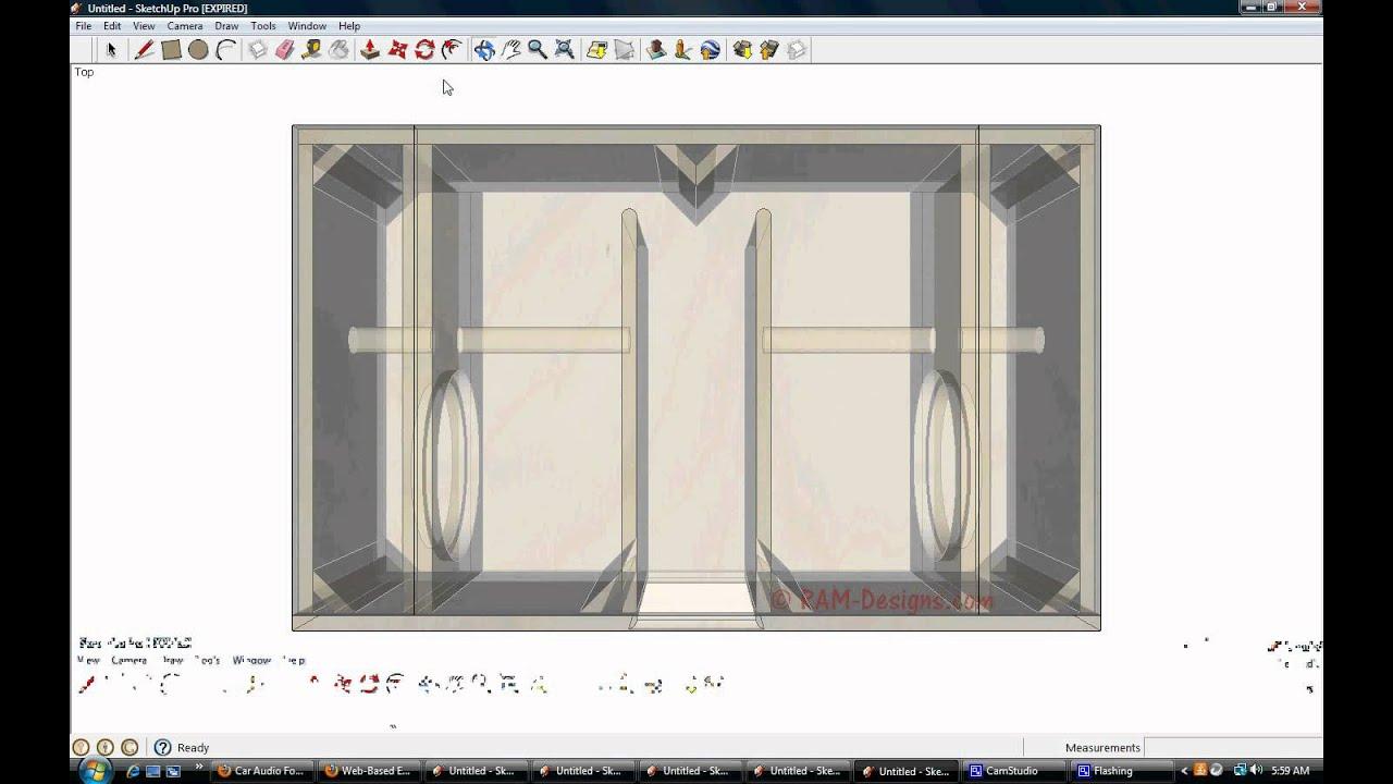 Bandpass Subwoofer Box Enclosure Calculator Speaker Cabinet