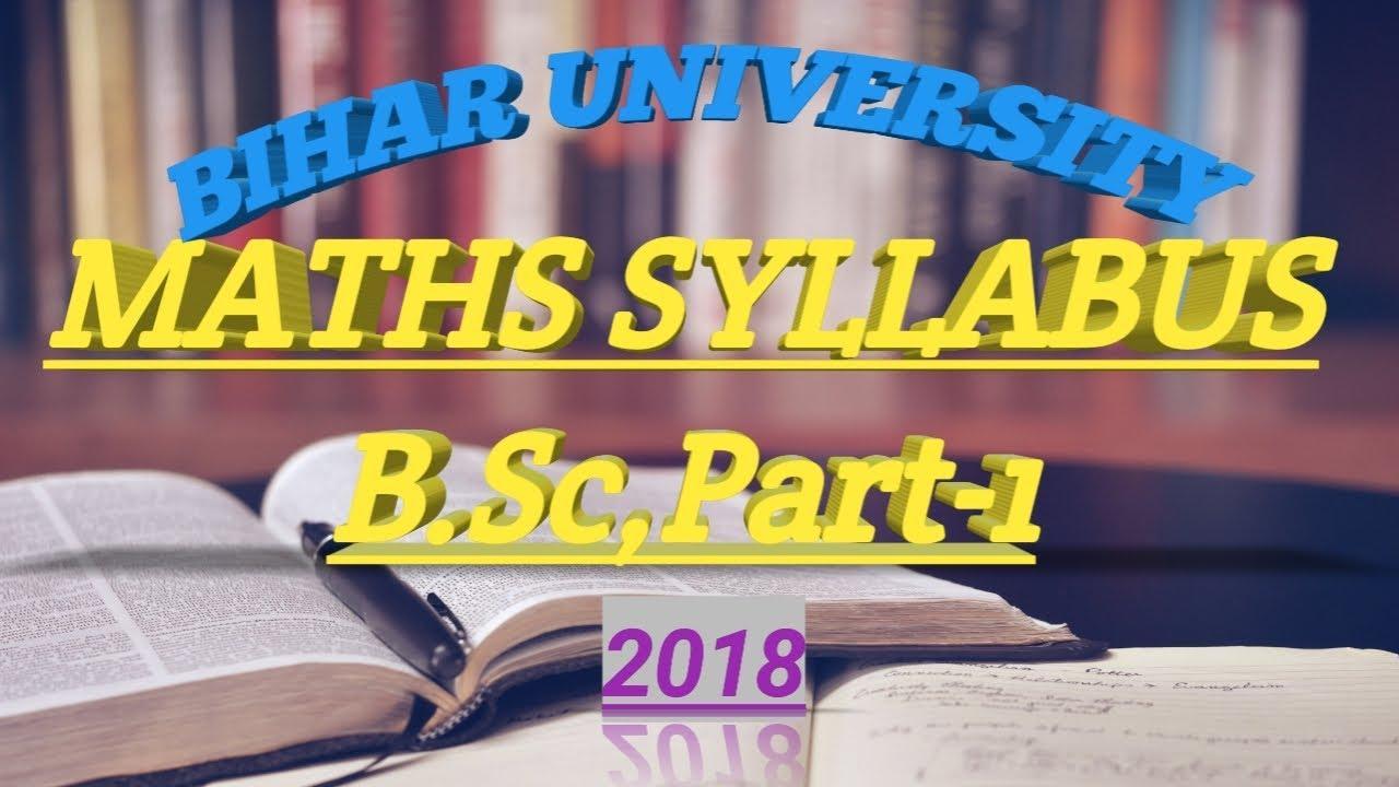 B Sc maths 1st year syllabus    Bsc 1st year maths syllabus of BRABU 2019