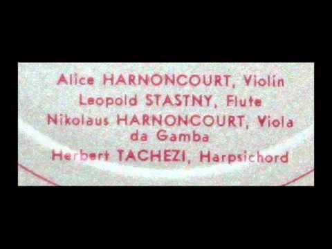 Telemann / Alice Harnoncourt, 1969: Parisian Quartet No. 1 in G Major - N. Harnoncourt, Director