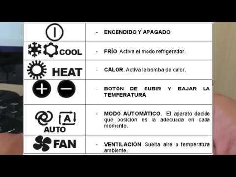Simbolos de aire acondicionado de carro