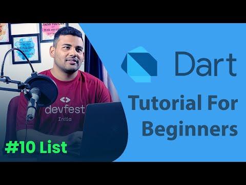 Lists in Dart - #10 Dart Programming Tutorial for Beginners