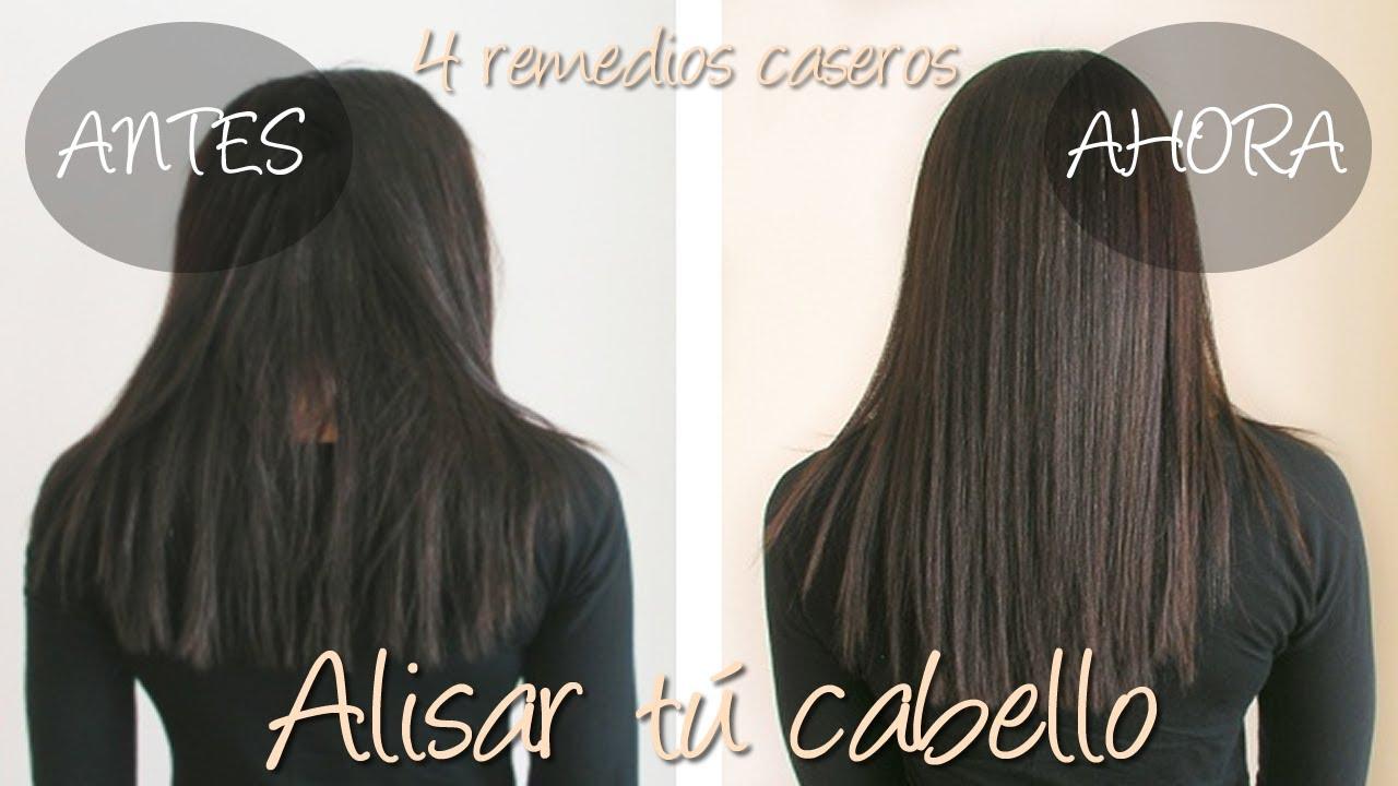 remedios caseros para alisar el cabello de manera natural
