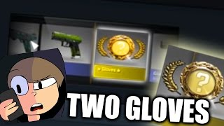 CSGO - TWO GLOVES IN TWO MINUTES (NEW GLOVE CASE OPENING)