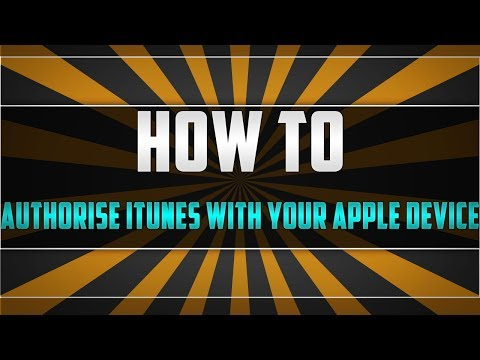 How To Authorise ITunes With Your Iphone, Ipad, Ipod Touch (Apple Device)