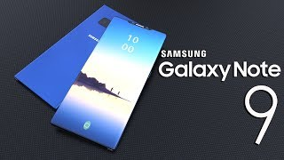 Samsung Galaxy Note 9 Concept Introduction, Specifications with 95% screen to body ratio