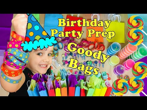 Birthday Party Bags 2019 & What's Inside Boys & Girls - Birthday Party Prep 2   Valentina ToysReview